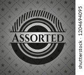 assorted realistic black emblem | Shutterstock .eps vector #1204694095