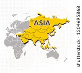 Map of Asia Isometric Vector Design