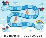 skydive board game template... | Shutterstock .eps vector #1204697815