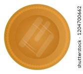 isolated golden coin image.... | Shutterstock .eps vector #1204700662
