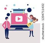 professionals workwear jobs | Shutterstock .eps vector #1204711432