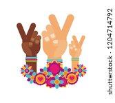 retro hippie style | Shutterstock .eps vector #1204714792