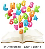 open book with a colorful... | Shutterstock . vector #1204715545