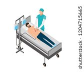 doctor and patient operating... | Shutterstock .eps vector #1204715665