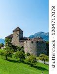 beautiful architecture at vaduz ... | Shutterstock . vector #1204717078