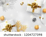 christmas vector background.... | Shutterstock .eps vector #1204727398