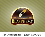 shiny badge with bandage... | Shutterstock .eps vector #1204729798