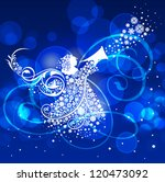 christmas angel. this... | Shutterstock .eps vector #120473092