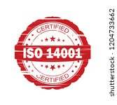 red iso 14001 grunge stamp on... | Shutterstock . vector #1204733662
