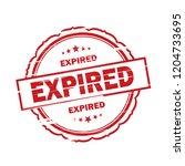 expired grunge stamp on white...   Shutterstock . vector #1204733695