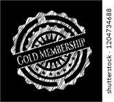 gold membership on chalkboard | Shutterstock .eps vector #1204734688
