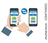 mobile payment and transfer... | Shutterstock .eps vector #1204743052