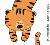 cute tiger vector illustration. ... | Shutterstock .eps vector #1204757002