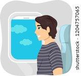 illustration of a teenage guy...   Shutterstock .eps vector #1204757065