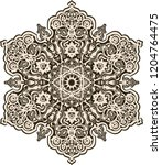 floral  hand drawn mandala....   Shutterstock .eps vector #1204764475