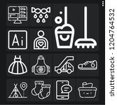 set of 13 young outline icons...   Shutterstock .eps vector #1204764532