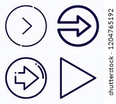 simple set of 4 icons related... | Shutterstock .eps vector #1204765192