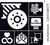 set of 6 light filled icons... | Shutterstock .eps vector #1204768075