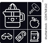 set of 6 closeup outline icons...   Shutterstock .eps vector #1204768162