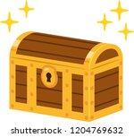 closed treasure box | Shutterstock .eps vector #1204769632