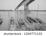 traditional fishing boat parked ... | Shutterstock . vector #1204771132