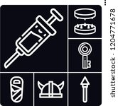 set of 6 protection outline... | Shutterstock .eps vector #1204771678