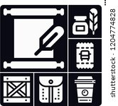 set of 6 paper filled icons... | Shutterstock .eps vector #1204774828