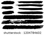 collection of hand drawn black... | Shutterstock .eps vector #1204784602