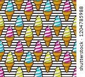 cute seamless pattern of...   Shutterstock .eps vector #1204785988