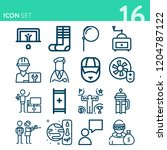 simple set of 16 icons related... | Shutterstock .eps vector #1204787122