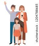 beautiful family avatar... | Shutterstock .eps vector #1204788685