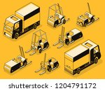 commercial transport and... | Shutterstock .eps vector #1204791172
