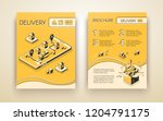 business delivery  logistic... | Shutterstock .eps vector #1204791175