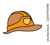 cute fireman helmet isolated... | Shutterstock .eps vector #1204795498