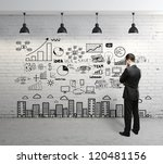 businessman looking at business ... | Shutterstock . vector #120481156