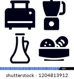 set of 4 food filled icons such ... | Shutterstock .eps vector #1204813912