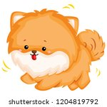 a happy and adorable corgi pure ... | Shutterstock .eps vector #1204819792