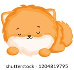 a happy and adorable corgi pure ... | Shutterstock .eps vector #1204819795