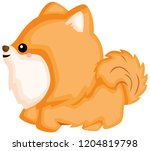 a happy and adorable corgi pure ... | Shutterstock .eps vector #1204819798