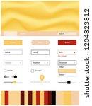 light red  yellow vector ui ux...