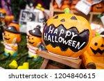 Halloween Pumpkins Concept.