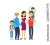 grandparents parents... | Shutterstock .eps vector #1204851775