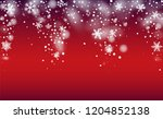 winter snowfall background....   Shutterstock .eps vector #1204852138