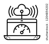 speedtest application icon | Shutterstock .eps vector #1204854202