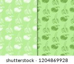 banana and orange seamless... | Shutterstock .eps vector #1204869928