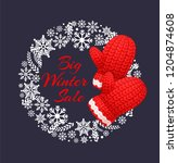 big winter sale poster with... | Shutterstock .eps vector #1204874608