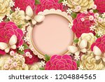 romantic background design with ... | Shutterstock .eps vector #1204884565