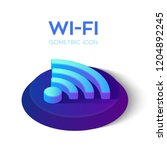 wi fi isometric icon. 3d... | Shutterstock .eps vector #1204892245