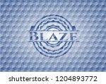 blaze blue hexagon emblem. | Shutterstock .eps vector #1204893772
