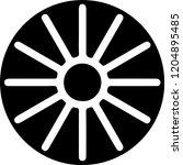 sun symbol black | Shutterstock .eps vector #1204895485